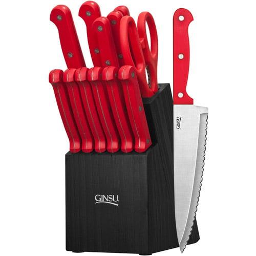 Ginsu Essential Series 14-Piece Cutlery Set with Black Block