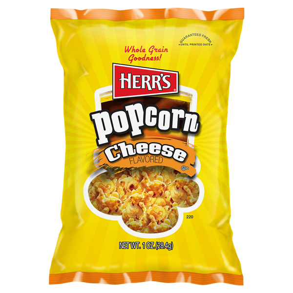 Herr's Cheese Flavored Popcorn 1 oz Bags - Pack of 30
