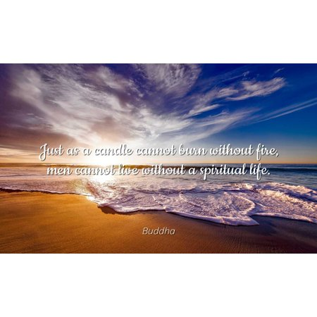 Buddha Famous Quotes Laminated Poster Print 24x20 Just As A