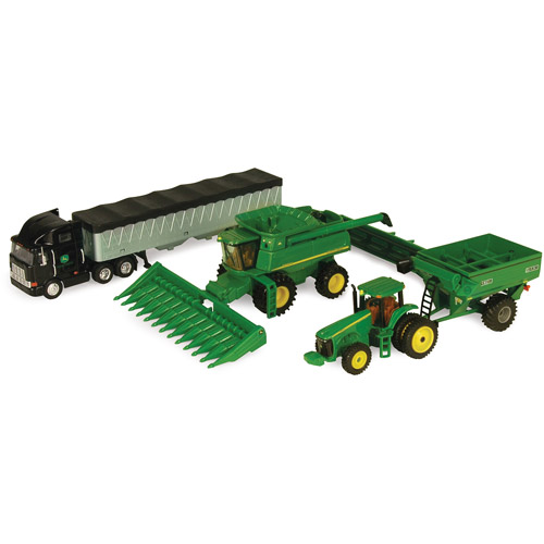John Deere 1:64 Scale Harvesting Set