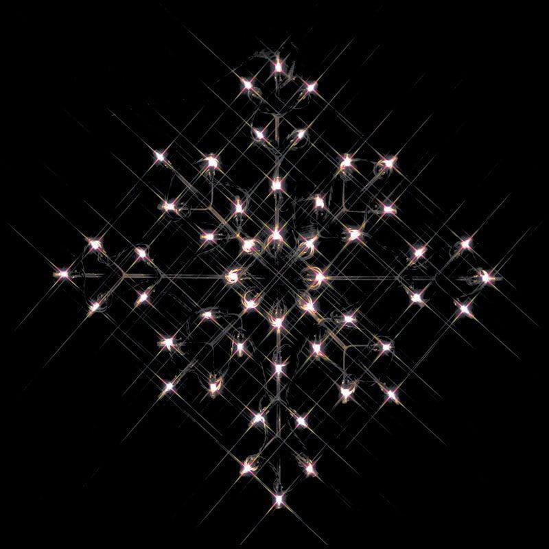 30 in. Outdoor LED Snowflake Display - 50 Bulbs