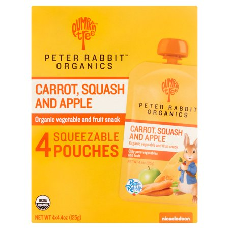 Peter Rabbit Organics Fruit Snack   Carrot Squash Apple 4 4Oz   4 Pack