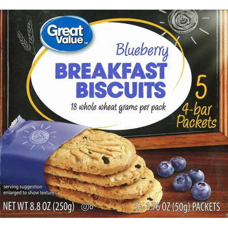 (6 Pack) Great Value Blueberry Breakfast Biscuits