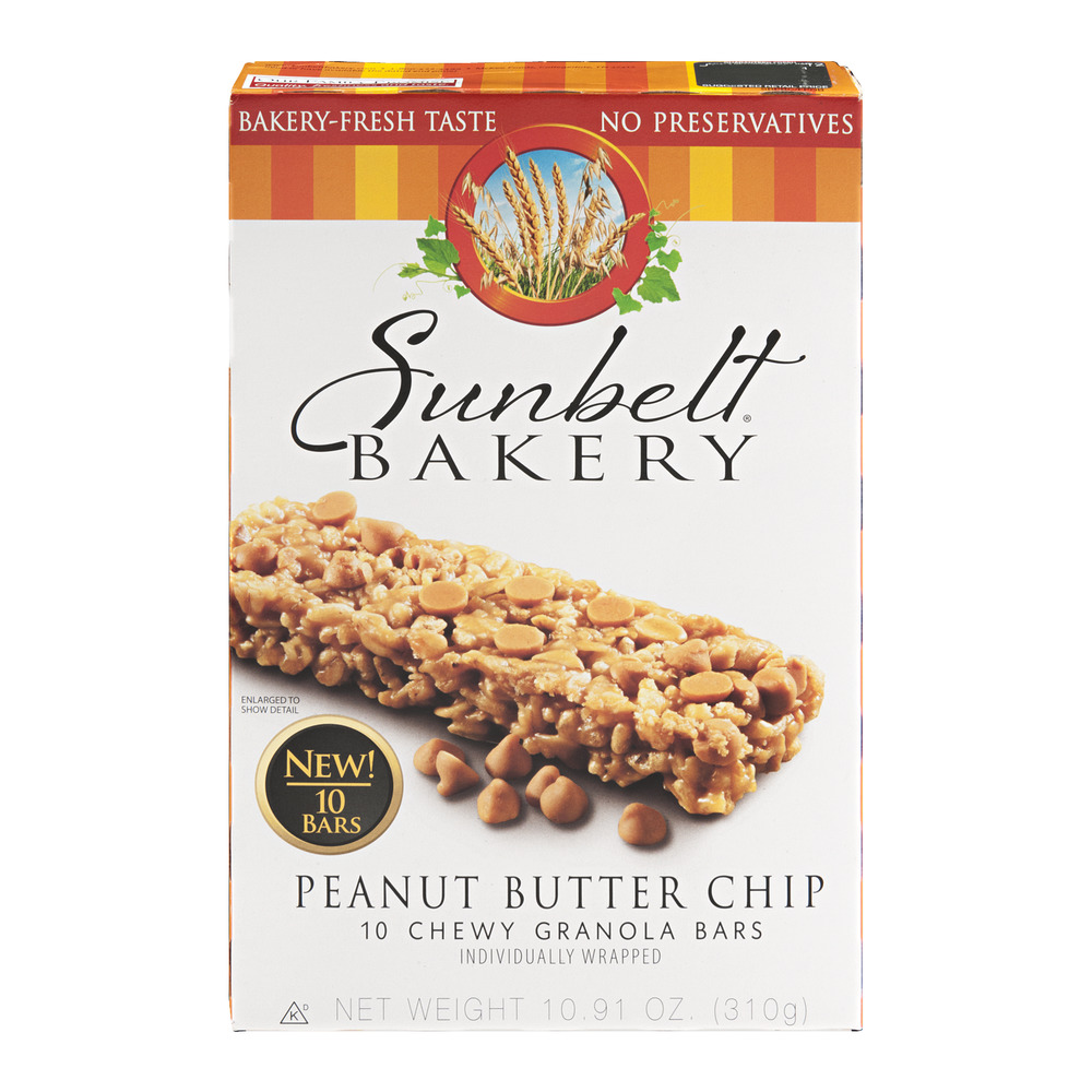 Sunbelt Bakery Granola Bars Peanut Butter Chip - 10 CT