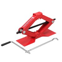 Hyper Tough 1-1/2 Ton Scissor Jack with Large Base Red - T10152W