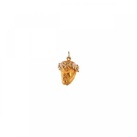 Face of Jesus Pendant R16929 / 14Kt Yellow / 19.00X14.50 Mm / Polished / Head Of Jesus W/Crown Pendant - Jesus Face Pendant