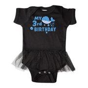 Nautical My 3rd Birthday with Blue Whale Infant Tutu Bodysuit
