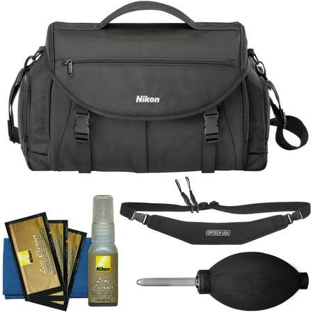 Nikon 17008 Large Pro DSLR Camera Bag with Sling Strap + Kit for D3200, D3300, D5300, D5500, D7100, D7200, D610, D750,