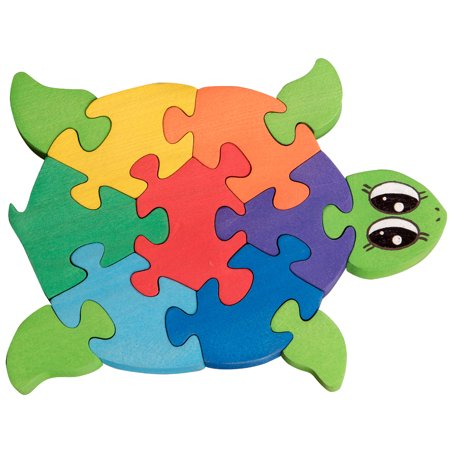 Wooden Jigsaw Puzzle For Toddlers Kids Childrens Baby 2 3 4 5 Years Old Preschool Educational Handmade Toys Turtle