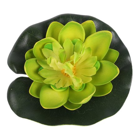 ENJOY 5Pcs Home Foam Artificial Flower Lotus Flowers Water Lily Floating Pool Plants (Fabric Floating Flowers)