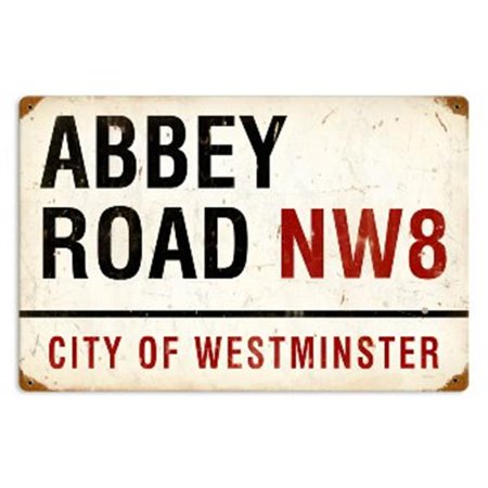 Past Time Signs PTS087 Abbey Road Street Signs Vintage Metal Sign - Street Signs In Italy