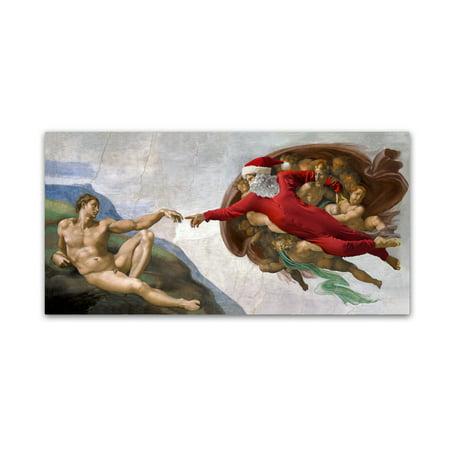 Trademark Fine Art 'Michelangelo-Creation Of Adam' Canvas Art by Ed Wheeler Ed Hand Numbered Fine Art