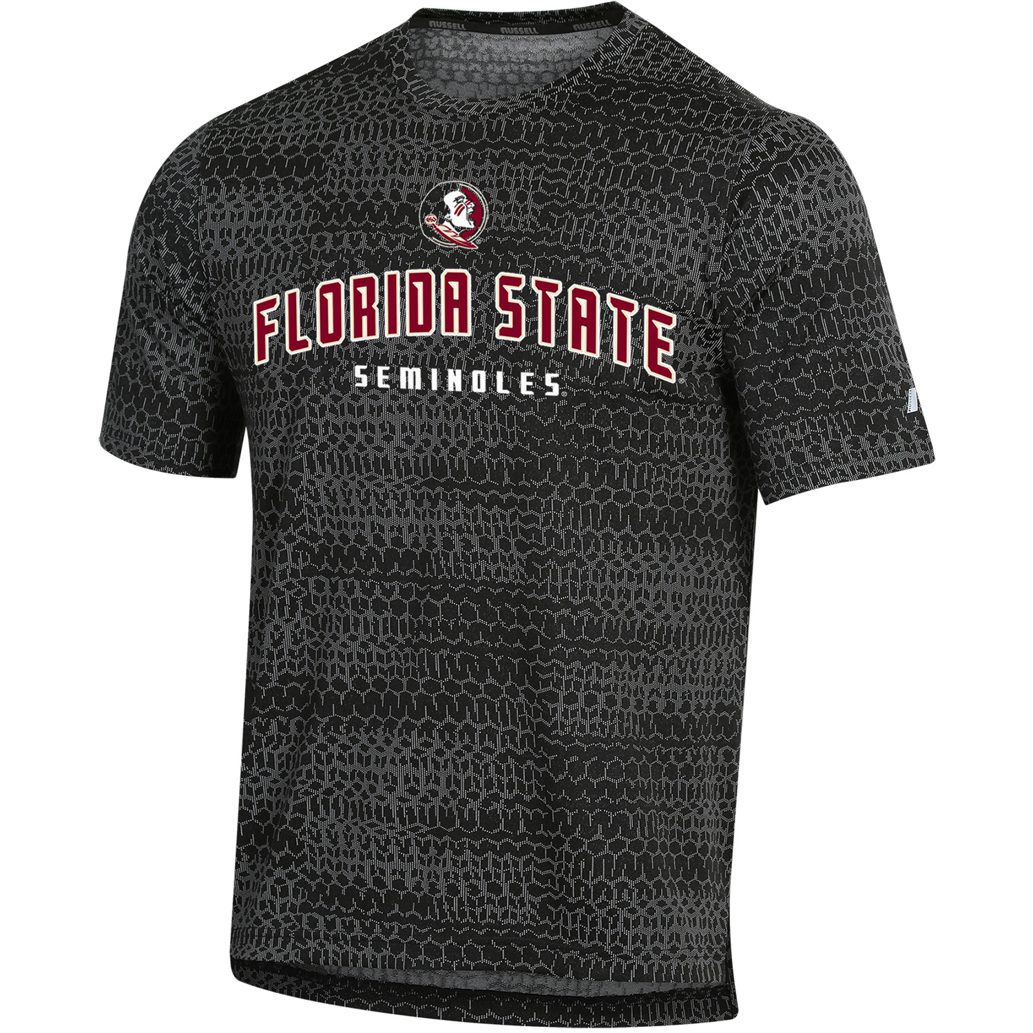 Men's Russell Black Florida State Seminoles Synthetic T-Shirt