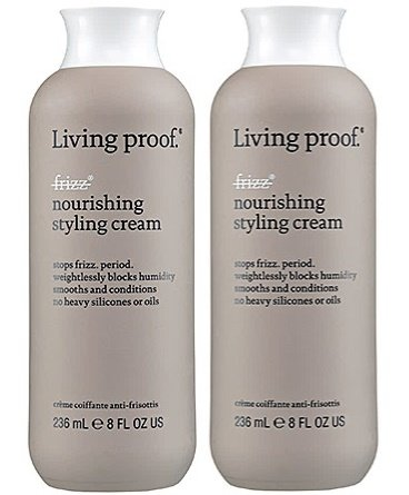 No Frizz Nourishing Styling Cream 8 oz by Living Proof (Set of 2)