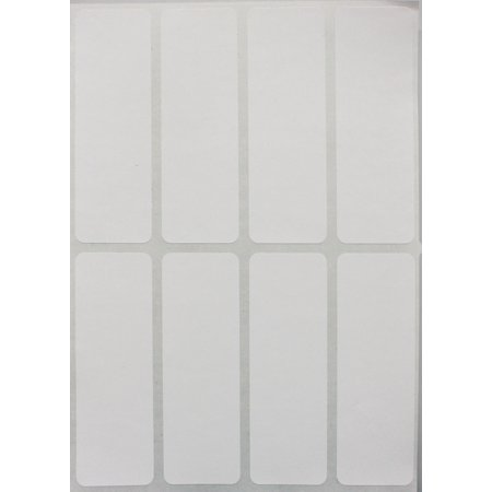 Rectangle Embossed Labels (White labels stickers 1 x 3 inch, writable rectangle label for file folder tabs - 120 Pack by Royal Green)