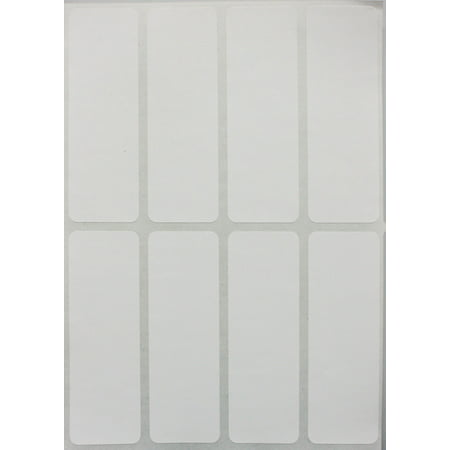 White labels stickers 1 x 3 inch, writable rectangle label for file folder tabs - 120 Pack by Royal Green