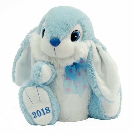Easter Collectible Hoppy Hopster ® Bunny Plush Toy for 2018 Gift, Blue (Track The Easter Bunny)