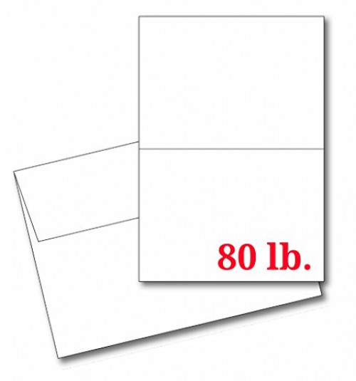 Greeting Cards Set 5x7 Blank White Cardstock And Envelopes Perfect