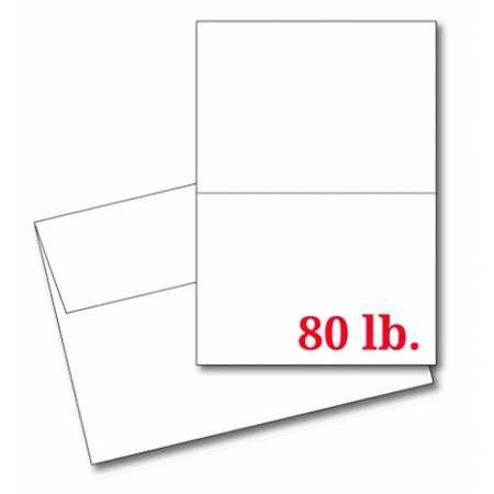 Greeting Cards Set – 5x7 Blank White Cardstock and Envelopes Perfect for Business, Invitations, Bridal Shower, Birthday, Interoffice, Invitation Letter, Weddings and All Occasion – Bulk Set of 50 (Blank Wedding Invitations)