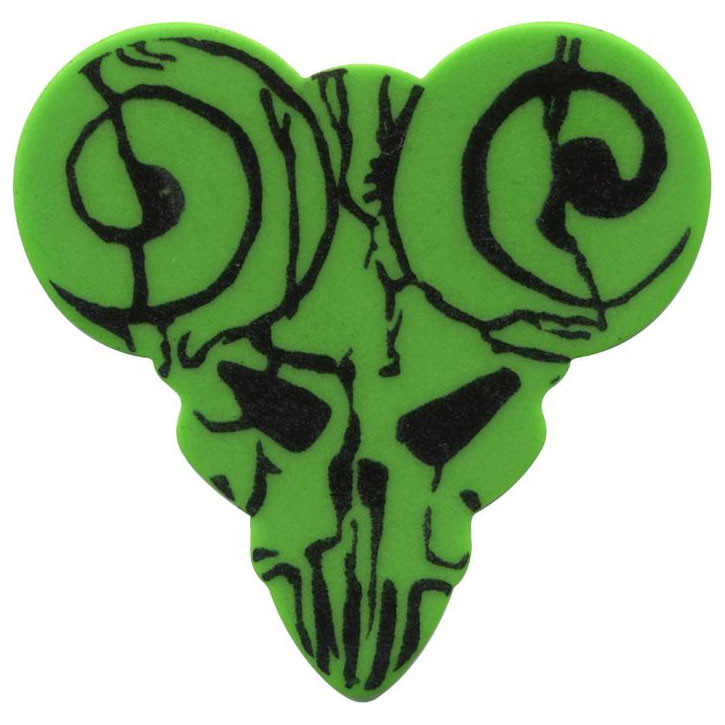 Clayton TDT-6 Functional Pick Guitar Picks, Green - Thin - 6 Pieces