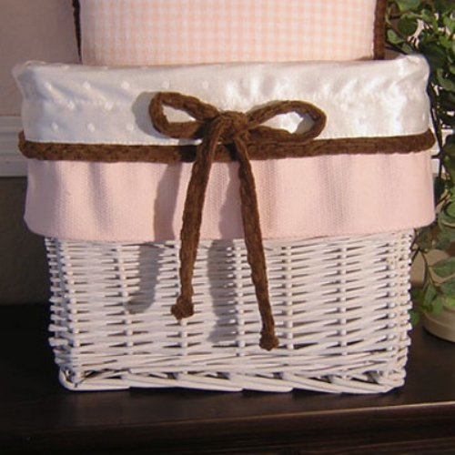 Brandee Danielle Pink Chocolate Wicker Basket