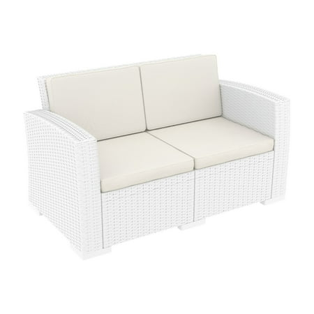 - Siesta Monaco Resin Patio Loveseat with Cushion