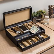Stock Your Home Luxury Men S Dresser Valet Organizer For Watches Jewelry Accessories Large
