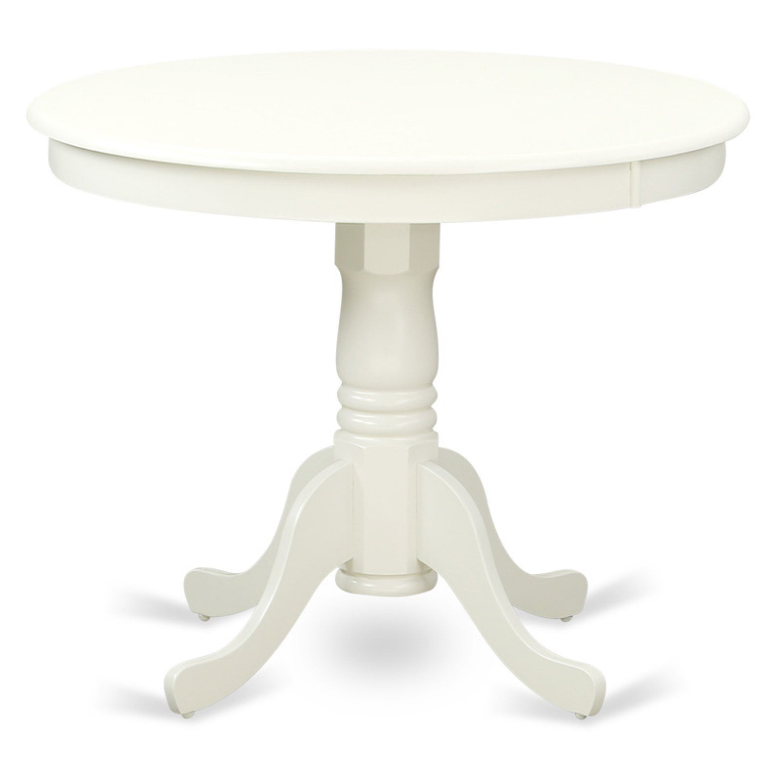 East West Furniture Linen White Round Antique Dining Table Walmart Com Walmart Com
