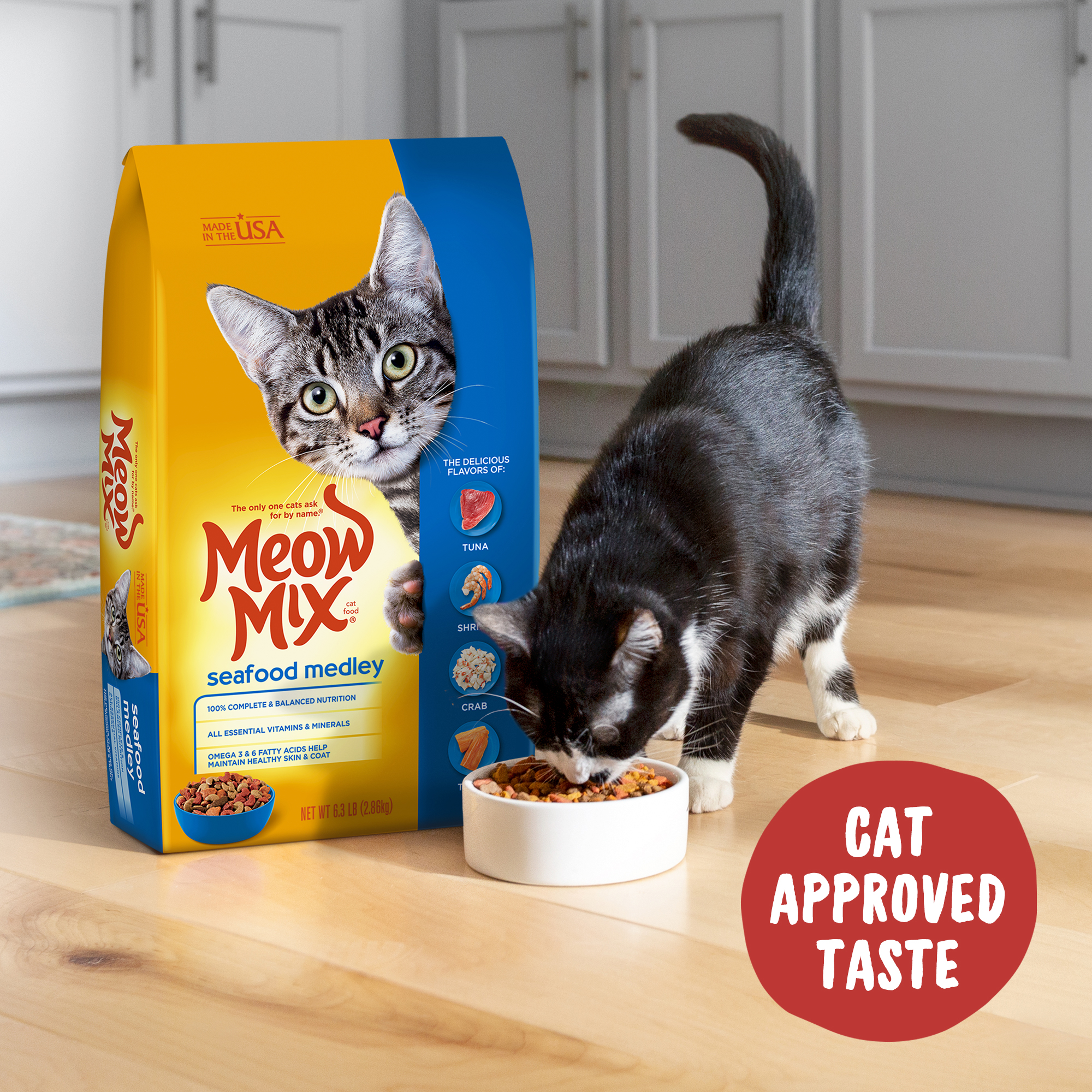 Meow Mix Seafood Medley Dry Cat Food $9.37 (reg $16)