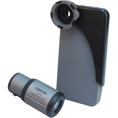 Carson IC-518 HookUpz iPhone 4, 4S and 5 Adapter for 7x18mm CloseUp Monocular