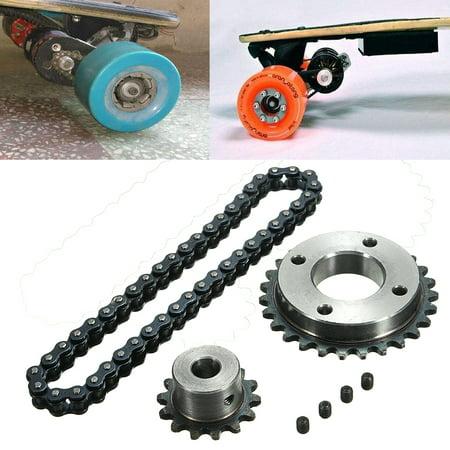 Sprocket Chain Wheel Set For Electric Longboard 8044 Skateboard Repalcement Diy