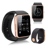 GT08 Gold Bluetooth Smart Wrist Watch Phone mate for Android Samsung HTC LG Touch Screen with Camera Amazingforless