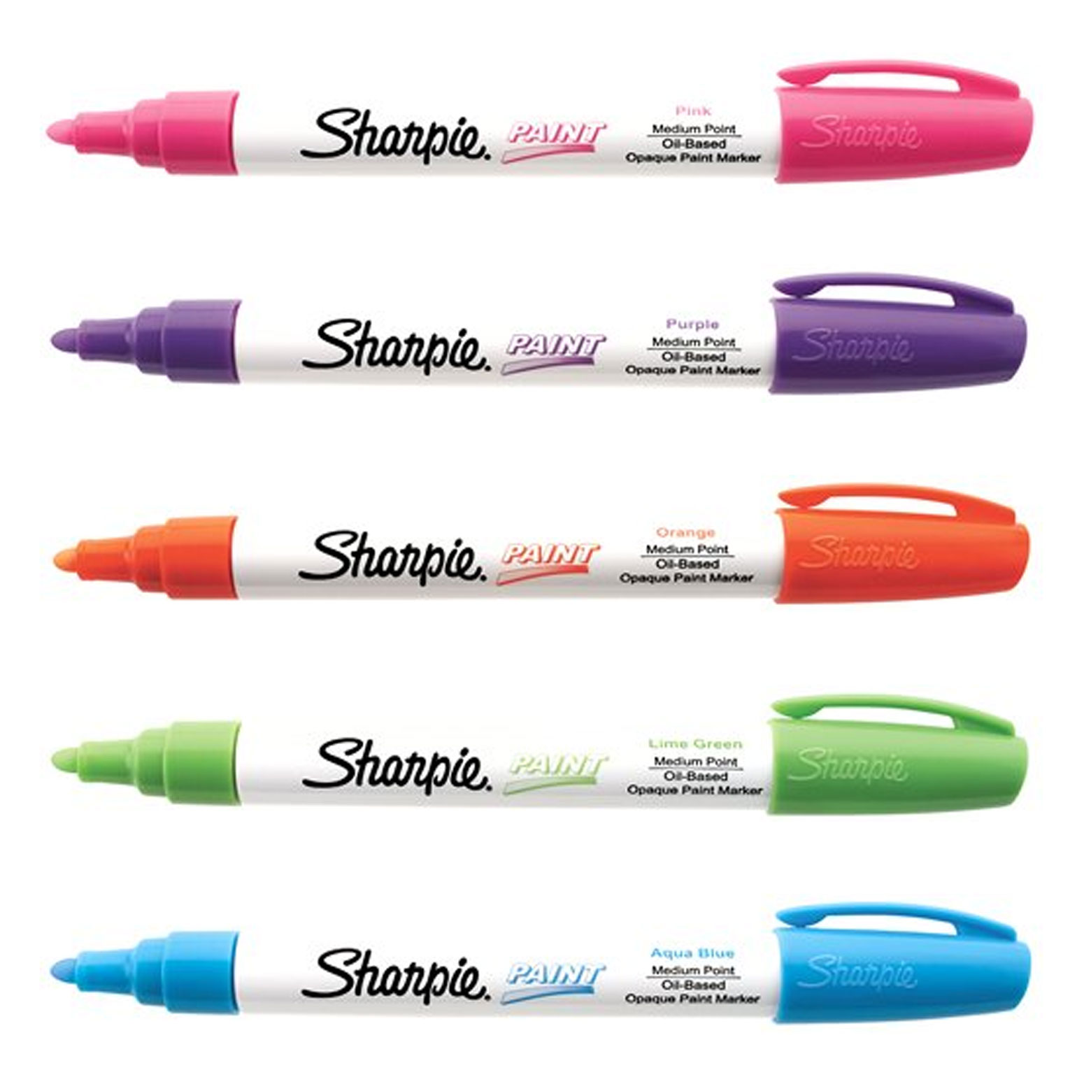 Sharpie Paint Marker Summer Color Kit 5pk Assorted Oil Based Medium Point Marker
