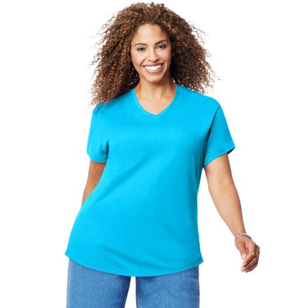 83f01d69781 Just My Size Womens Cotton Jersey Short-Sleeve V-Neck Tee
