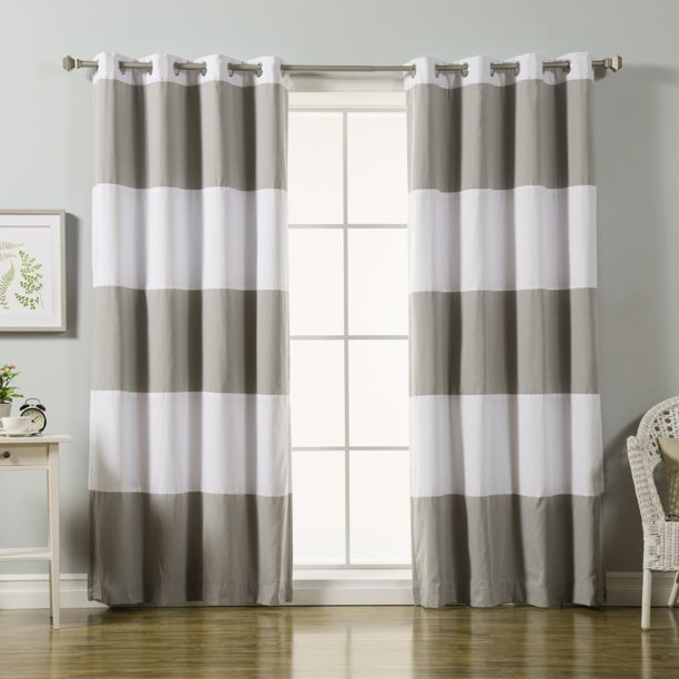 Best Home Fashion Rugby Stripe Cotton, Rugby Stripe Curtains