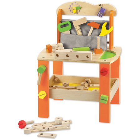 Classic Toy Wood Tool Bench With Accessories Walmart Com