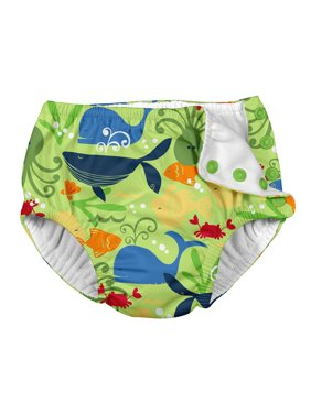 i play. Baby and Toddler Boys Snap Reusable Absorbent Swim Diaper
