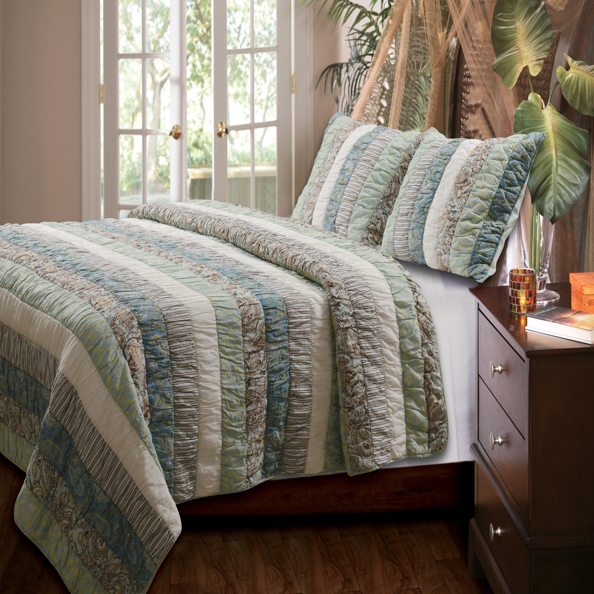 greenland home fashions paradise quilt set - Greenland Home Fashions