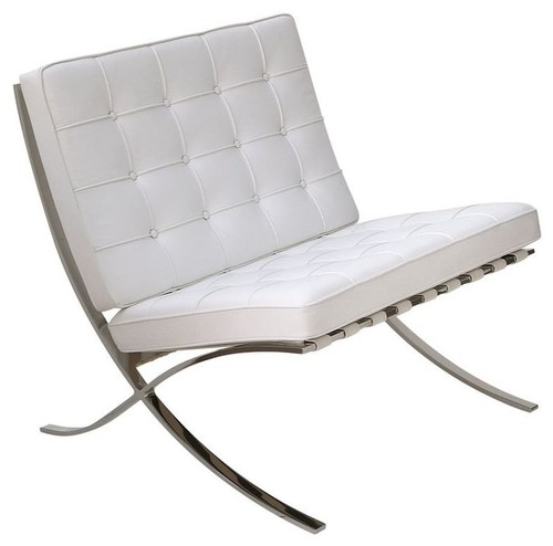 ARTeFAC - Classic Lounge Leather Chair, White - image 1 of 1