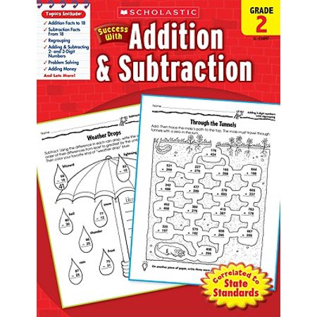 Subtraction Color By Number Halloween (Scholastic Success with Addition & Subtraction, Grade)