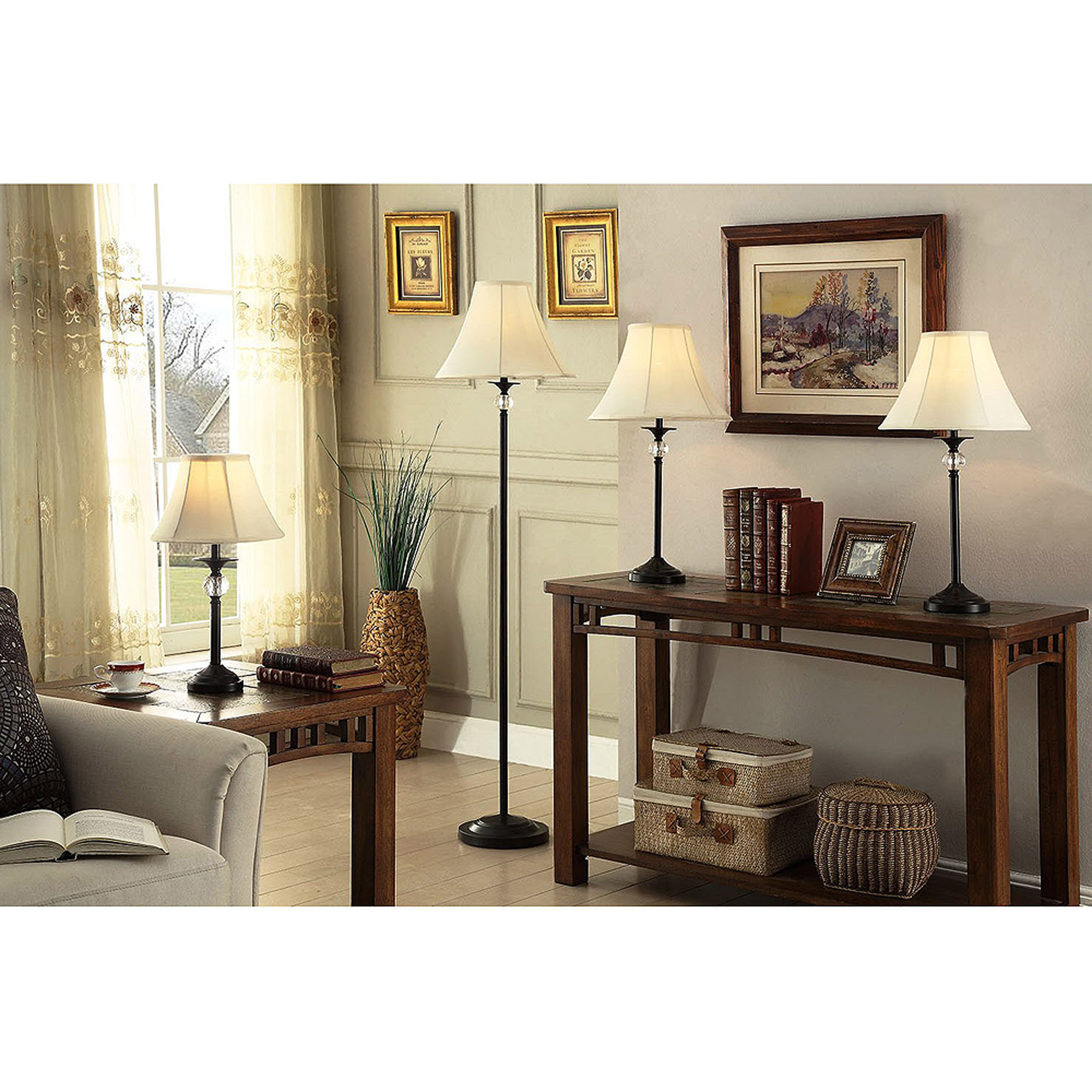 Better Homes and Gardens Lamps, Set of 4, Black