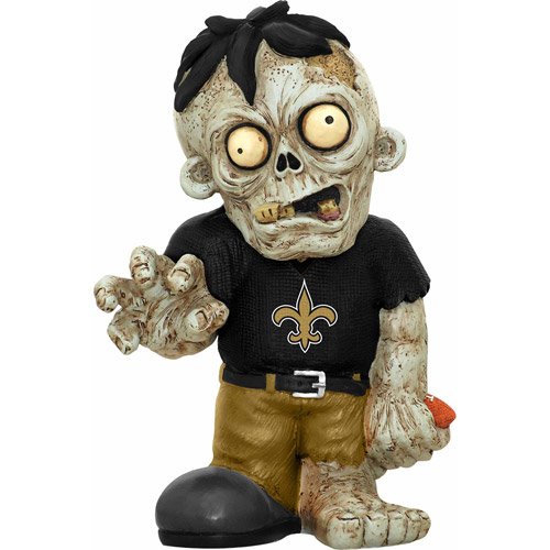 Forever Collectibles NFL Resin Zombie Figurine, New Orleans Saints