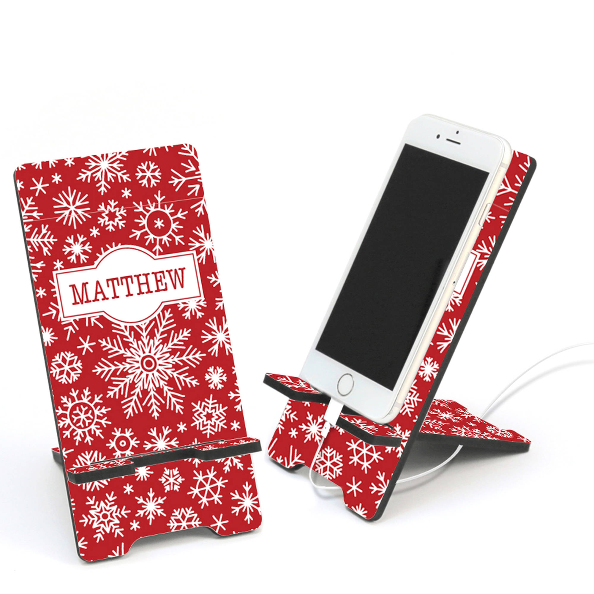Christmas Snowflake Personalized Cell Phone Stand