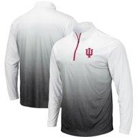 Indiana Hoosiers Colosseum Magic Team Logo Quarter-Zip Jacket - Gray