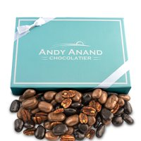 Andy Anand Chocolate Pecan Bridge with Delicious 6 Divine Flavors as Amaretto, Gran Marnier Gift Boxed & Greeting Card Birthday Valentine Christmas Anniversary Holiday Get well (1lbs)