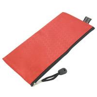 Unique Bargains PVC Canvas Zipper Closure Pencil Writing Instruments Bag Holder Red
