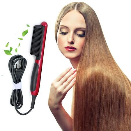 Pinkiou Electric Hair Straightener Flat Iron Instant Magic Straight Hair Straightening Styling With Ceramic LCD Temperature Display