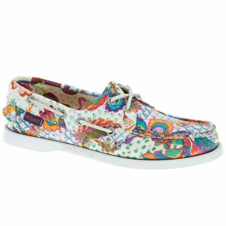 Womens Sebago Dockside Deck Shoes (Sebago® Women's  Docksides Boat Shoes Grand Bazaar Print 5)