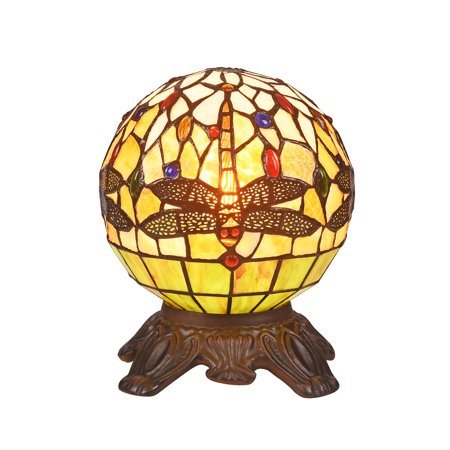 CHLOE Lighting DEMOISELLE Mosaic 1 Light Dark Bronze Accent Lamp 8