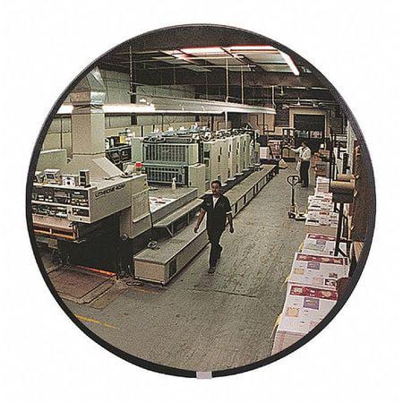 Indoor Convex Mirror,18 in dia, Acrylic ZORO SELECT SCVI-18Z
